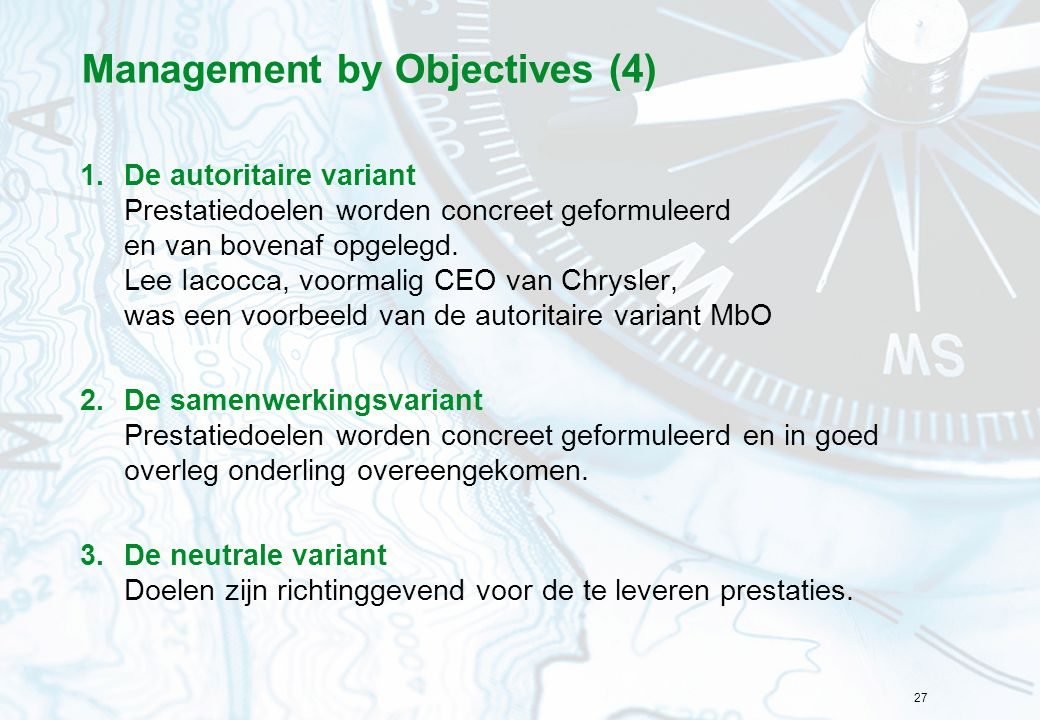 Management by Objectives (4)
