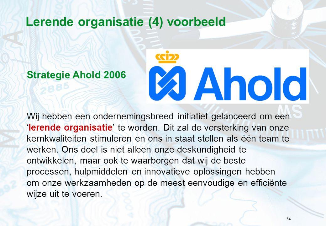 Lerende organisatie (4) voorbeeld