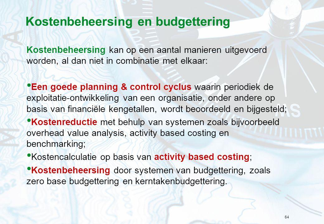 Kostenbeheersing en budgettering