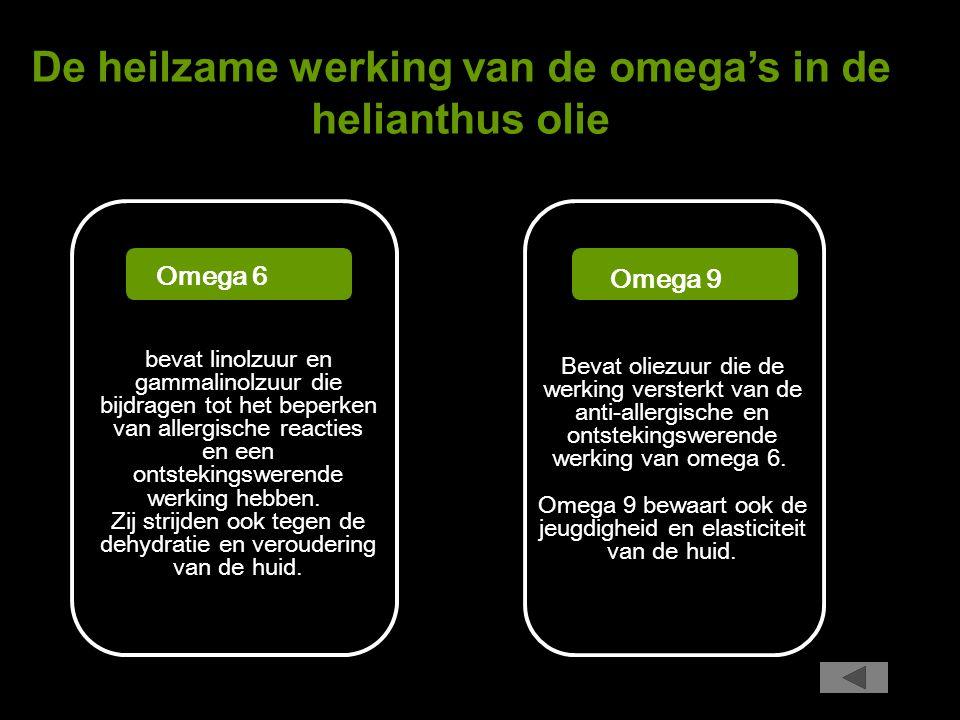 De heilzame werking van de omega's in de helianthus olie