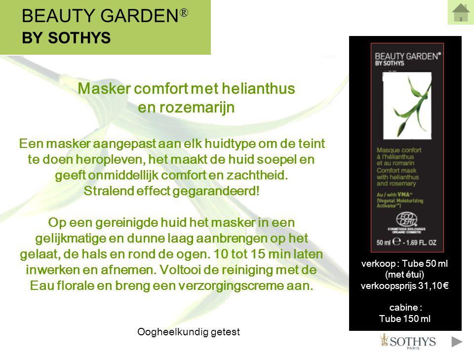 BEAUTY GARDEN® BY SOTHYS Masker comfort met helianthus en rozemarijn