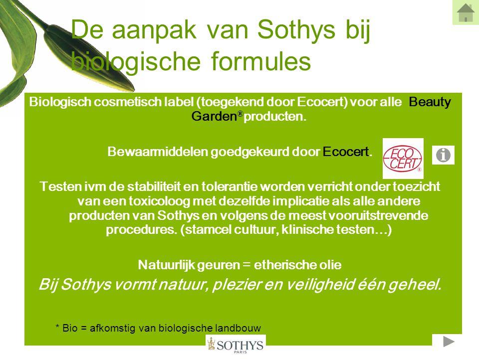 De aanpak van Sothys bij biologische formules