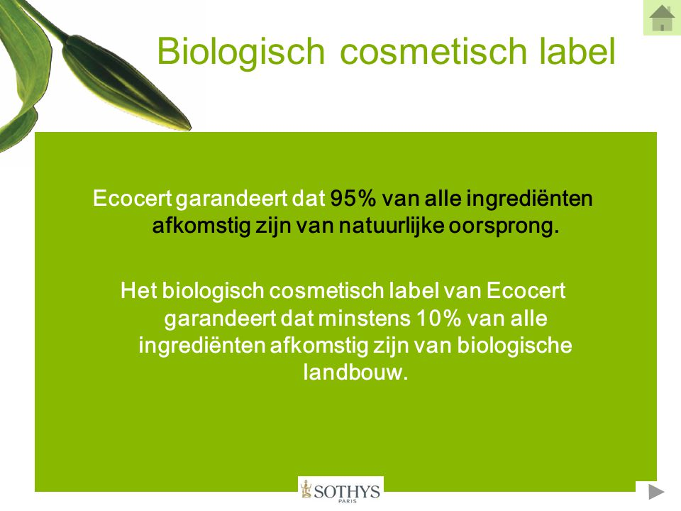 Biologisch cosmetisch label