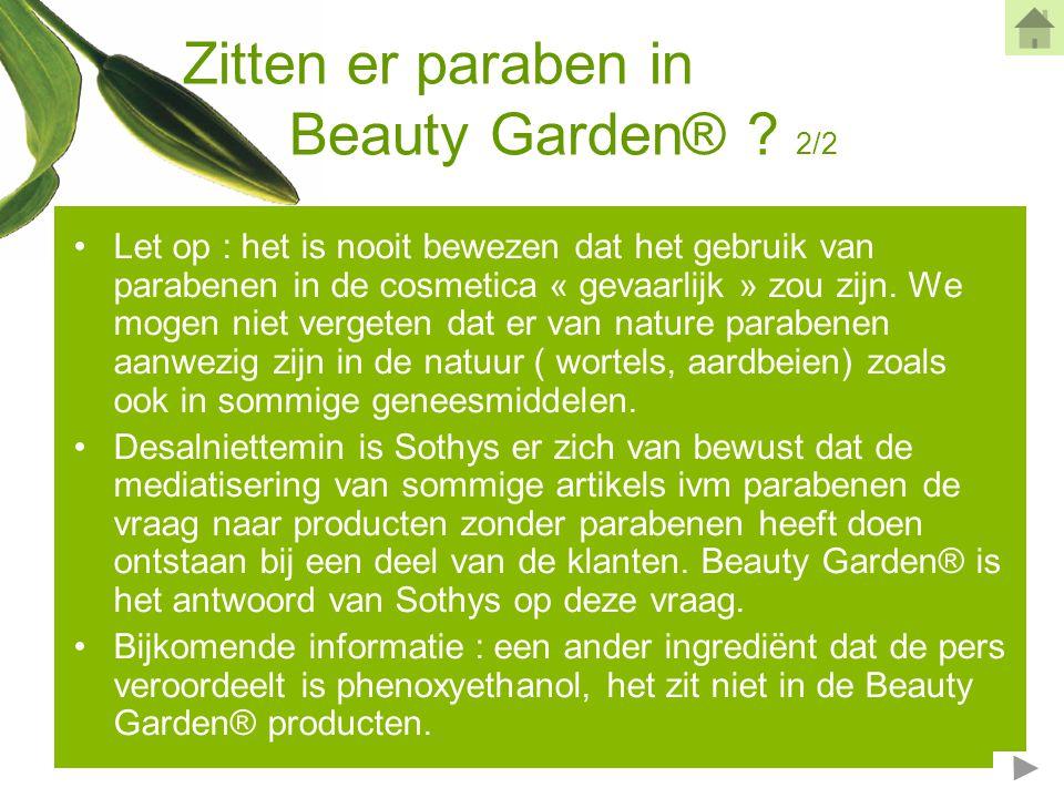 Zitten er paraben in Beauty Garden® 2/2