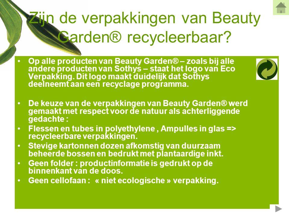 Zijn de verpakkingen van Beauty Garden® recycleerbaar