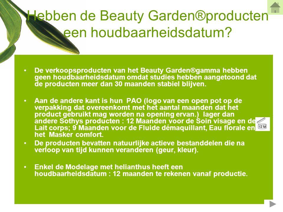 Hebben de Beauty Garden®producten een houdbaarheidsdatum