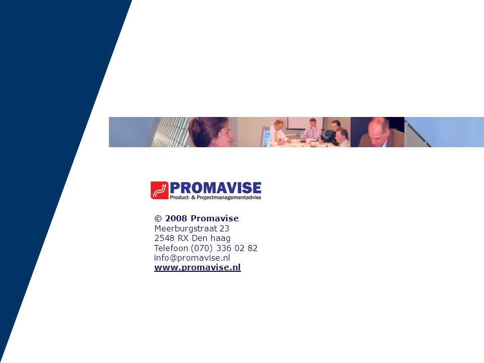 © 2008 Promavise Meerburgstraat 23. 2548 RX Den haag. Telefoon (070) 336 02 82. info@promavise.nl.