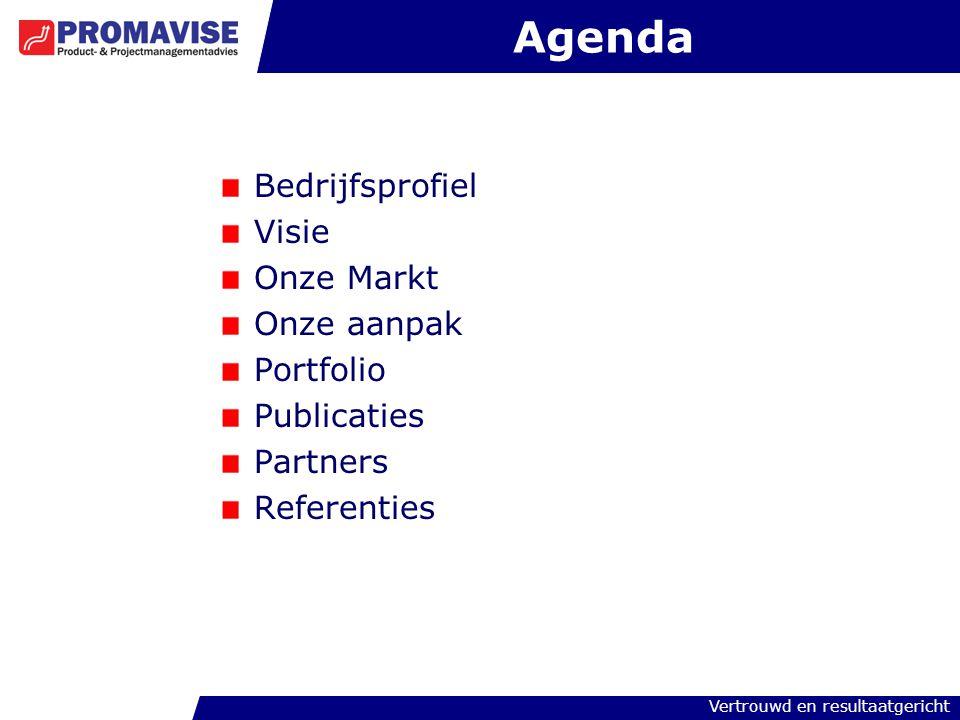 Agenda Bedrijfsprofiel Visie Onze Markt Onze aanpak Portfolio