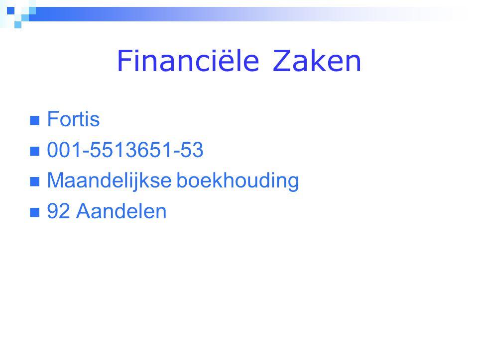 Financiële Zaken Fortis 001-5513651-53 Maandelijkse boekhouding