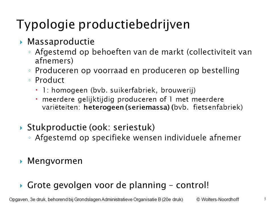 Typologie productiebedrijven