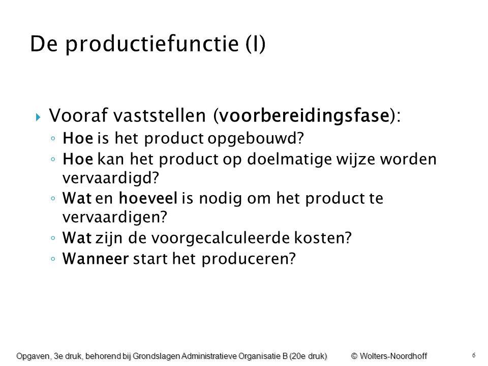 De productiefunctie (I)