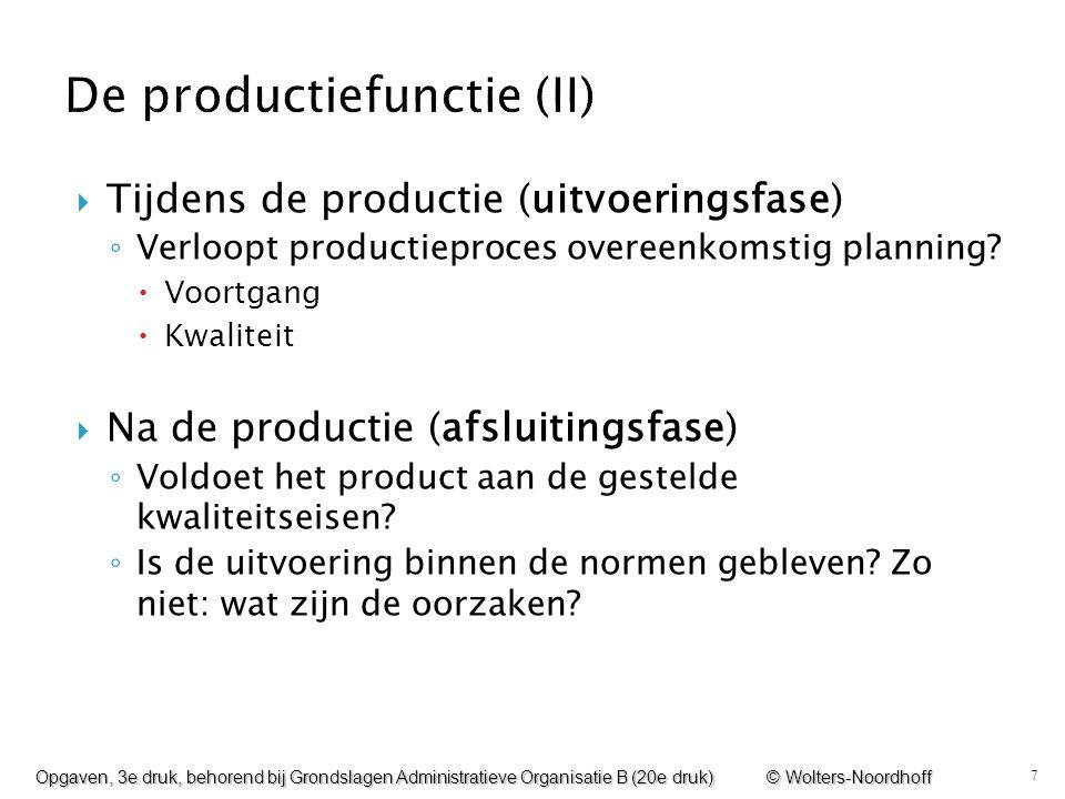 De productiefunctie (II)