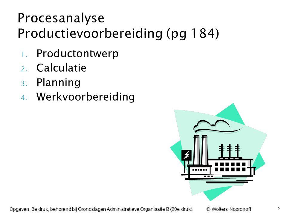 Procesanalyse Productievoorbereiding (pg 184)