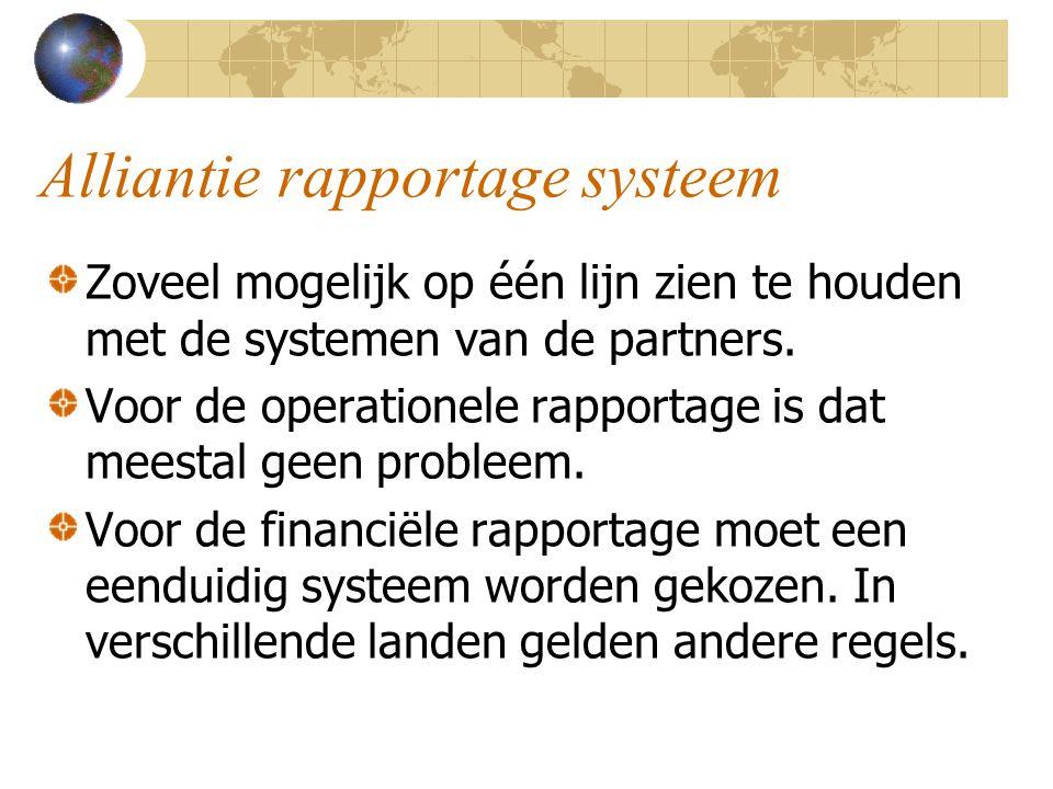 Alliantie rapportage systeem
