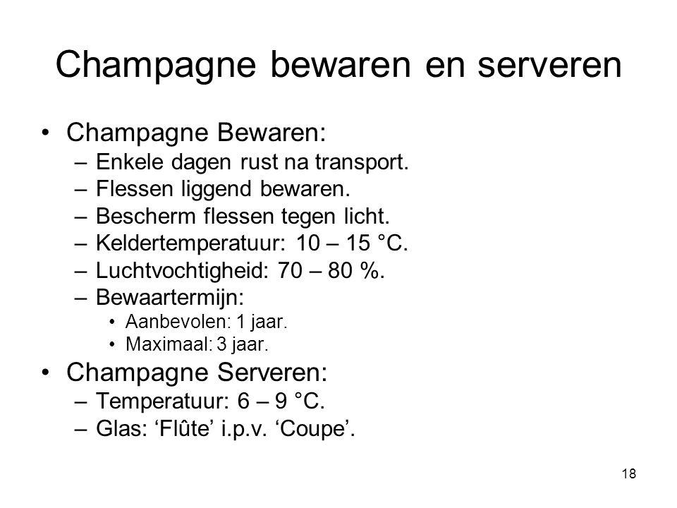 Champagne bewaren en serveren