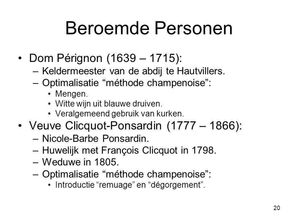 Beroemde Personen Dom Pérignon (1639 – 1715):