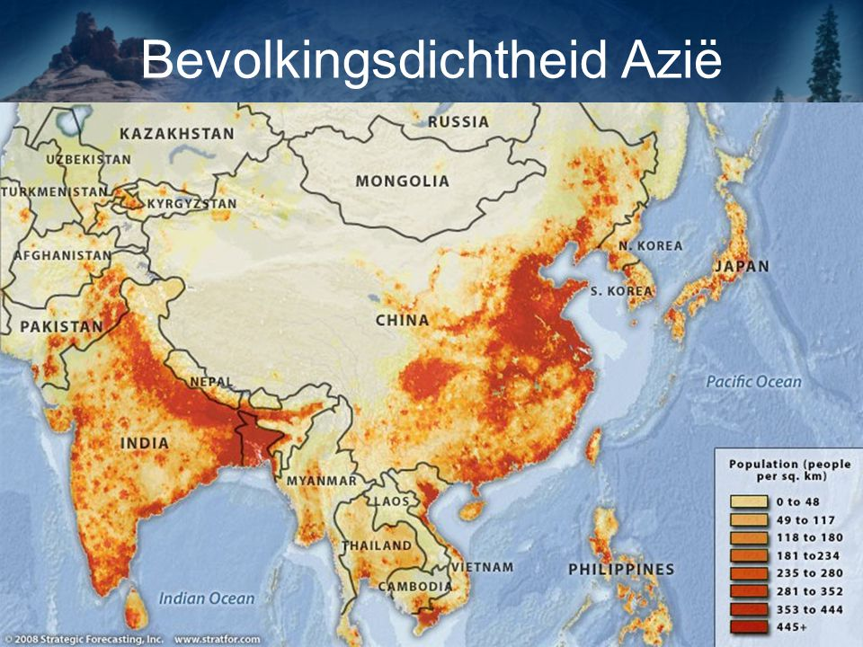 Bevolkingsdichtheid Azië