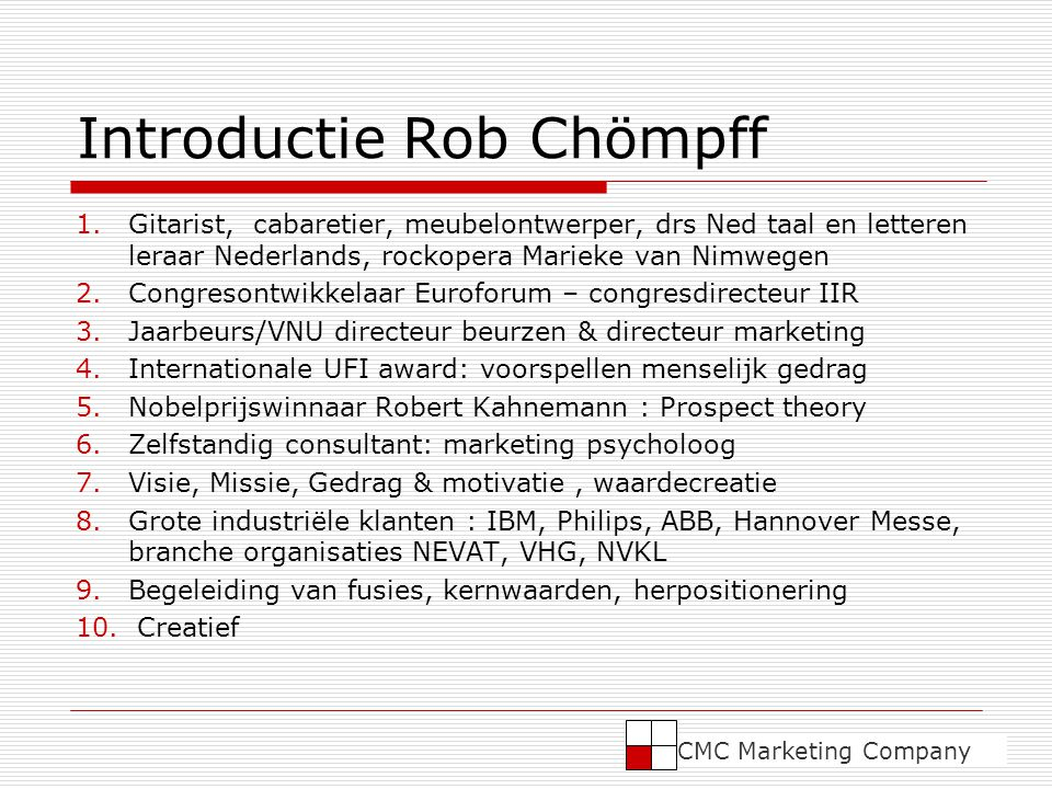 Introductie Rob Chömpff