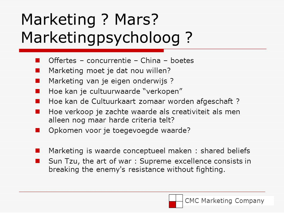 Marketing Mars Marketingpsycholoog