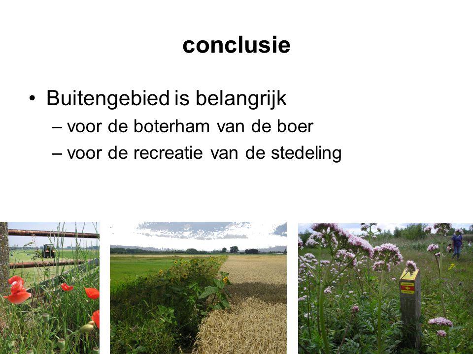 conclusie Buitengebied is belangrijk voor de boterham van de boer
