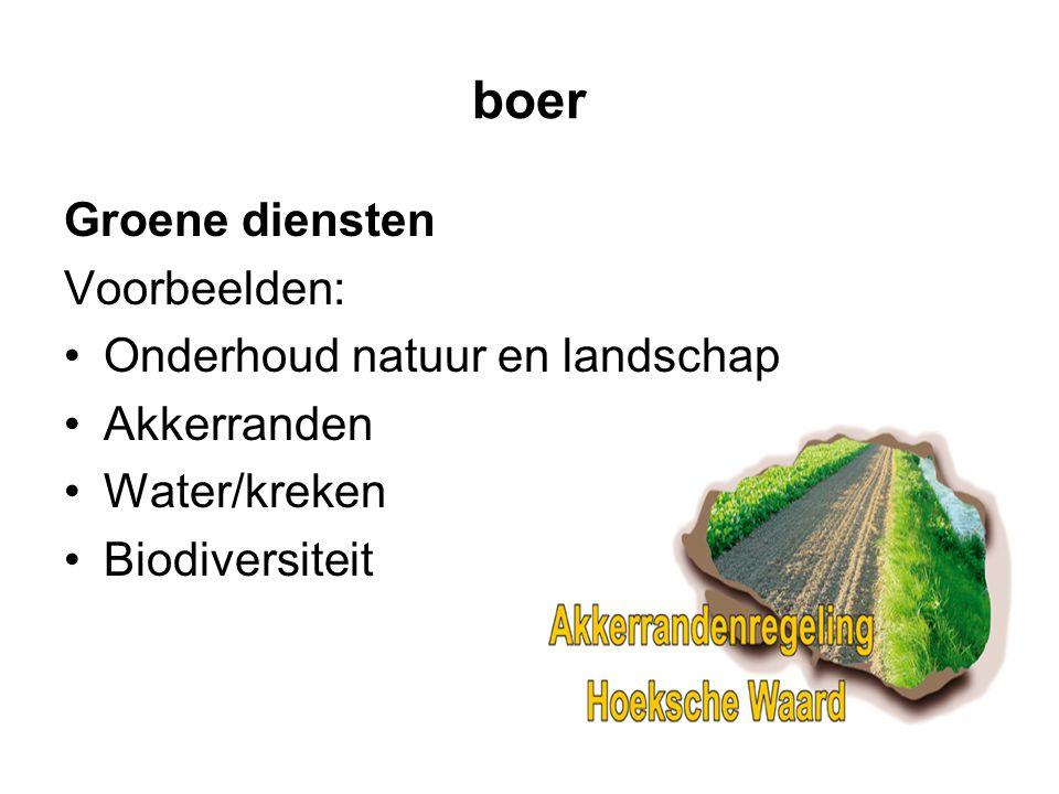 boer Groene diensten Voorbeelden: Onderhoud natuur en landschap