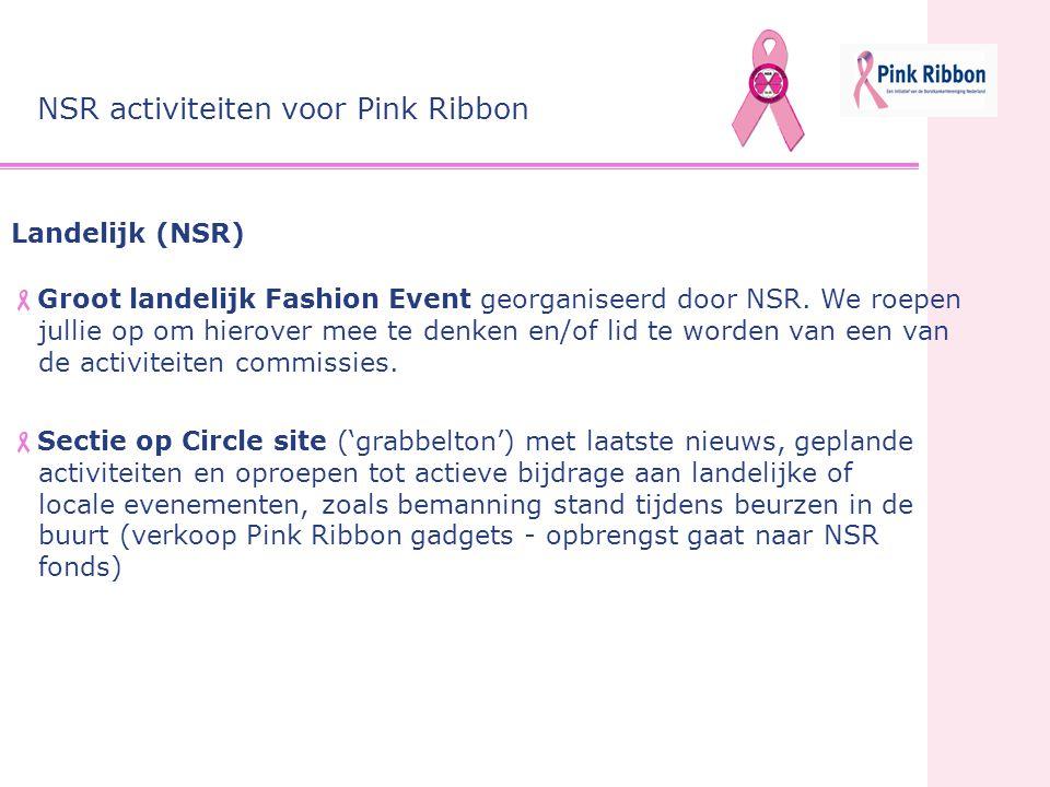 NSR activiteiten voor Pink Ribbon