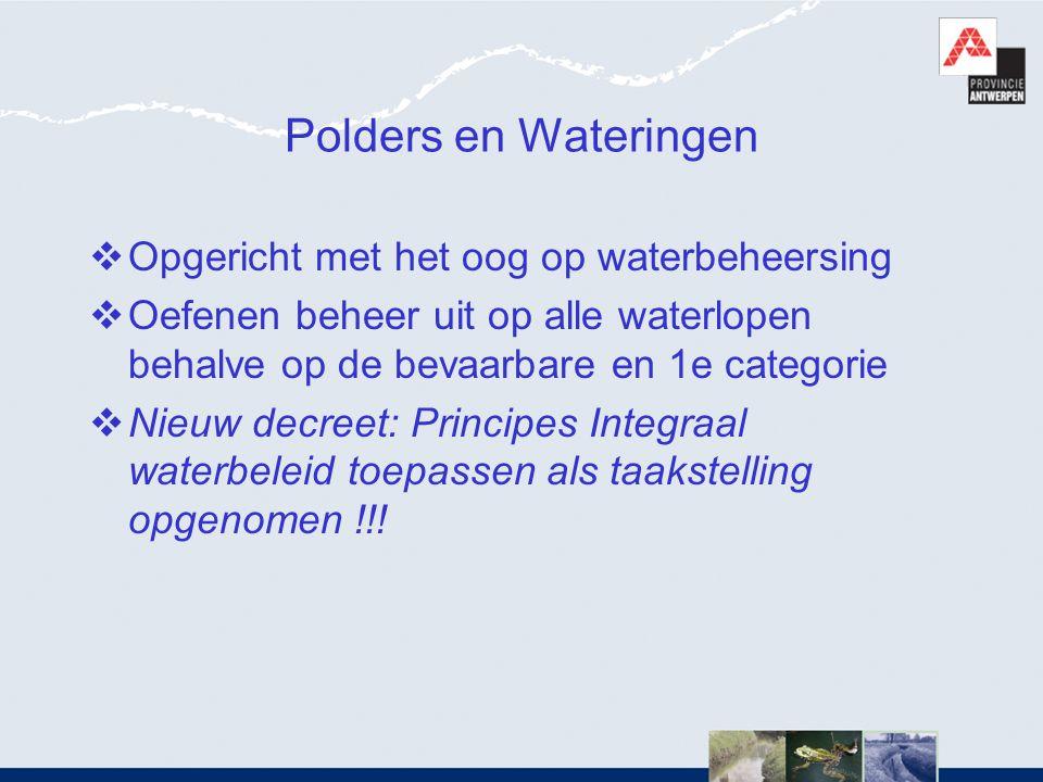 Polders en Wateringen Opgericht met het oog op waterbeheersing
