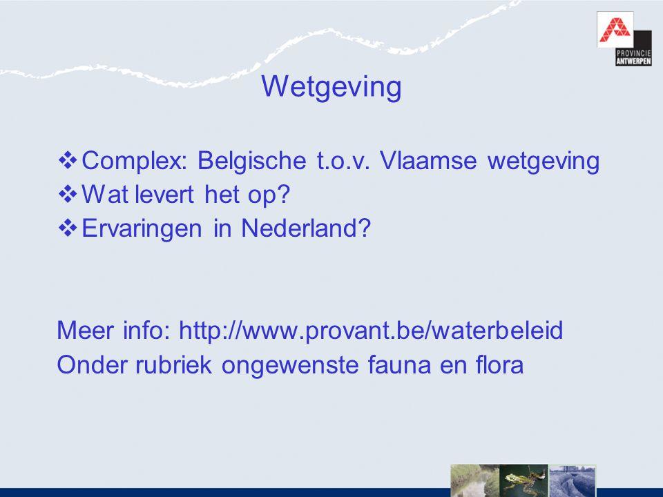 Wetgeving Complex: Belgische t.o.v. Vlaamse wetgeving