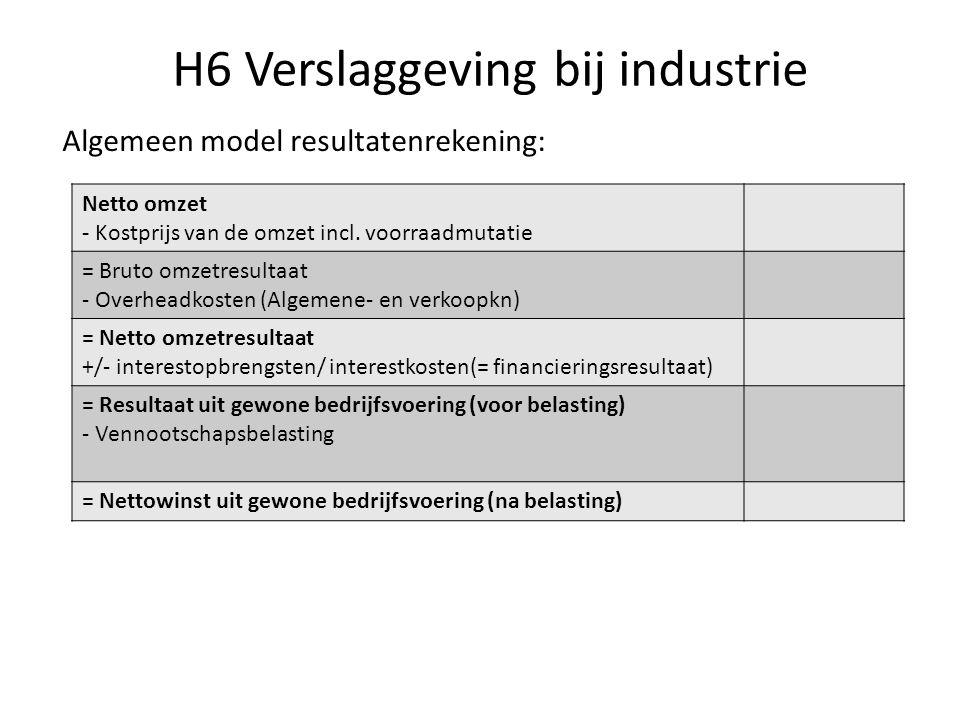 H6 Verslaggeving bij industrie
