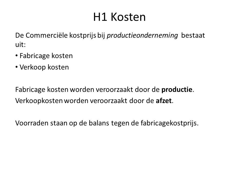 H1 Kosten Kostprijs bevat alleen de toegestane kosten per ...