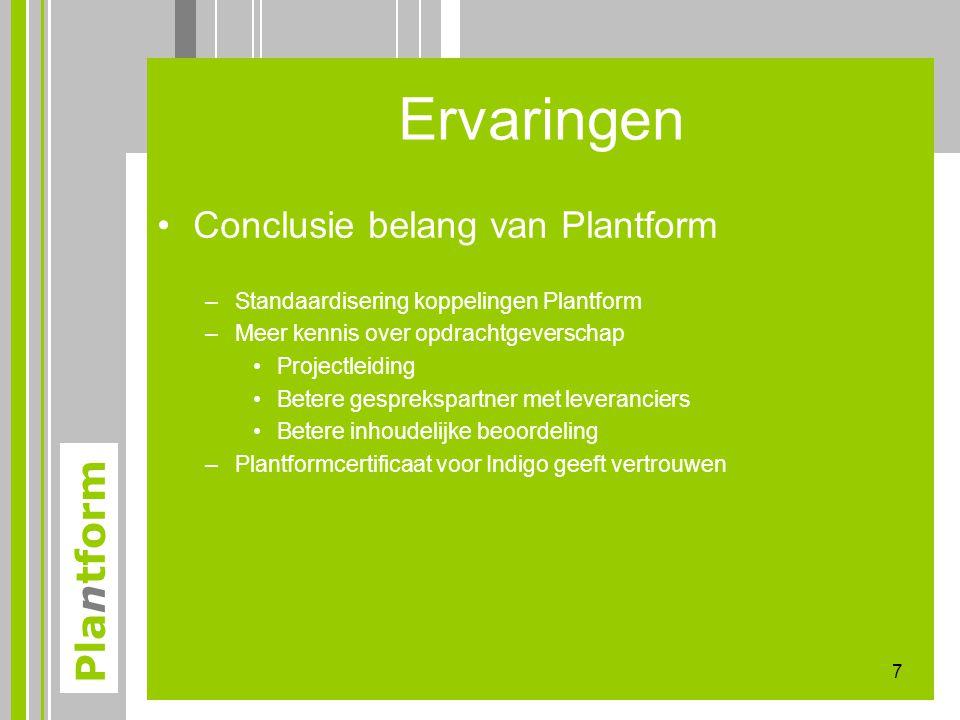 Ervaringen Conclusie belang van Plantform