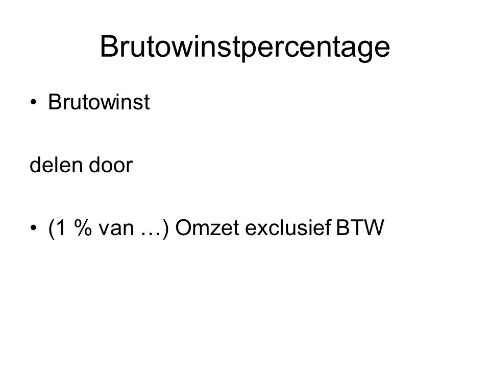 Brutowinstpercentage