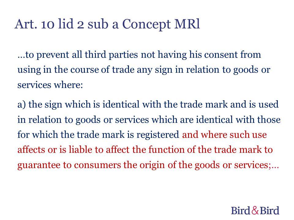 Art. 10 lid 2 sub a Concept MRl