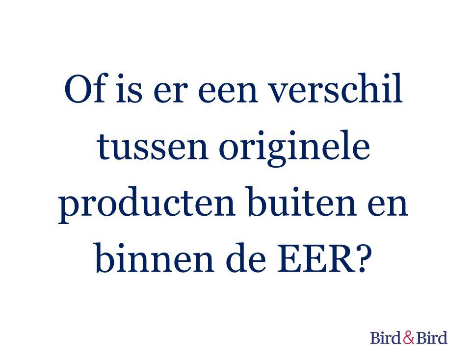 Of is er een verschil tussen originele producten buiten en binnen de EER