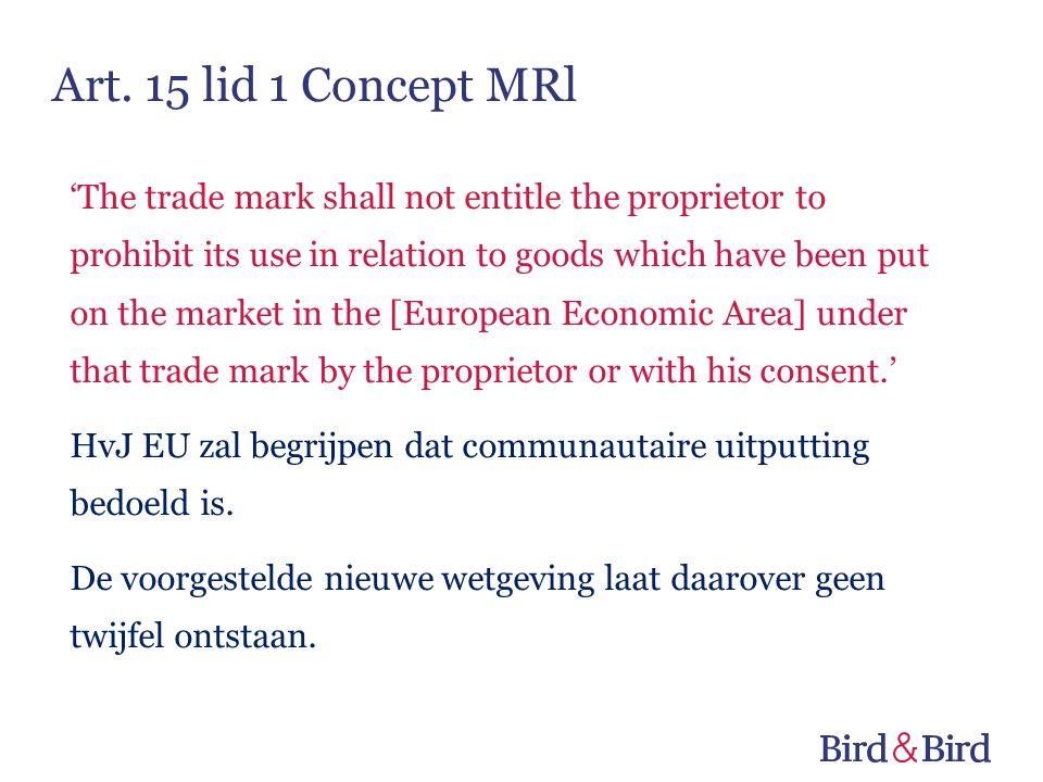 Art. 15 lid 1 Concept MRl