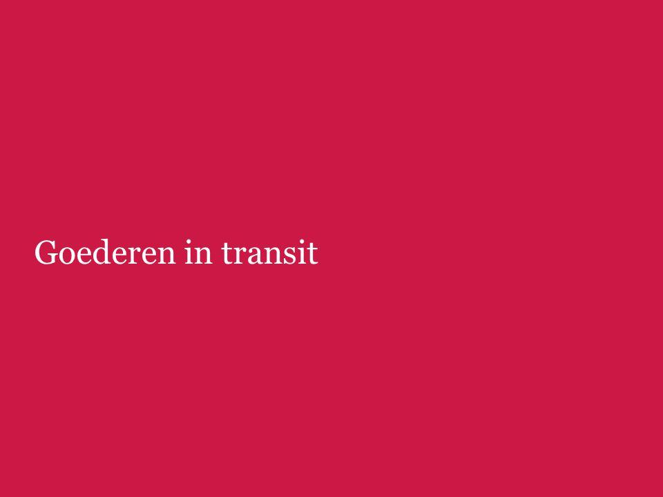 Goederen in transit