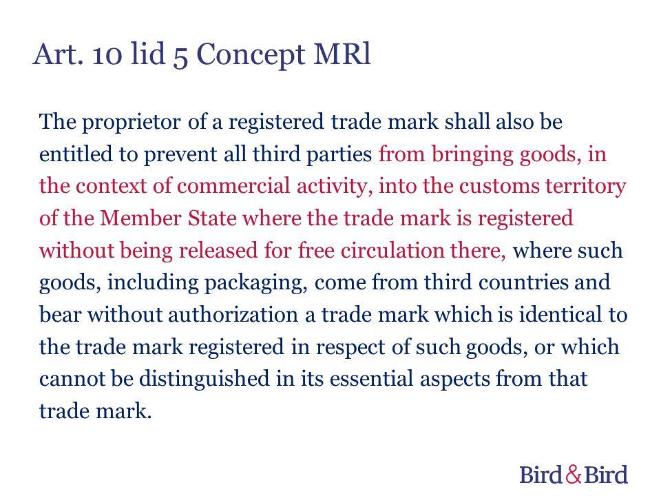 Art. 10 lid 5 Concept MRl
