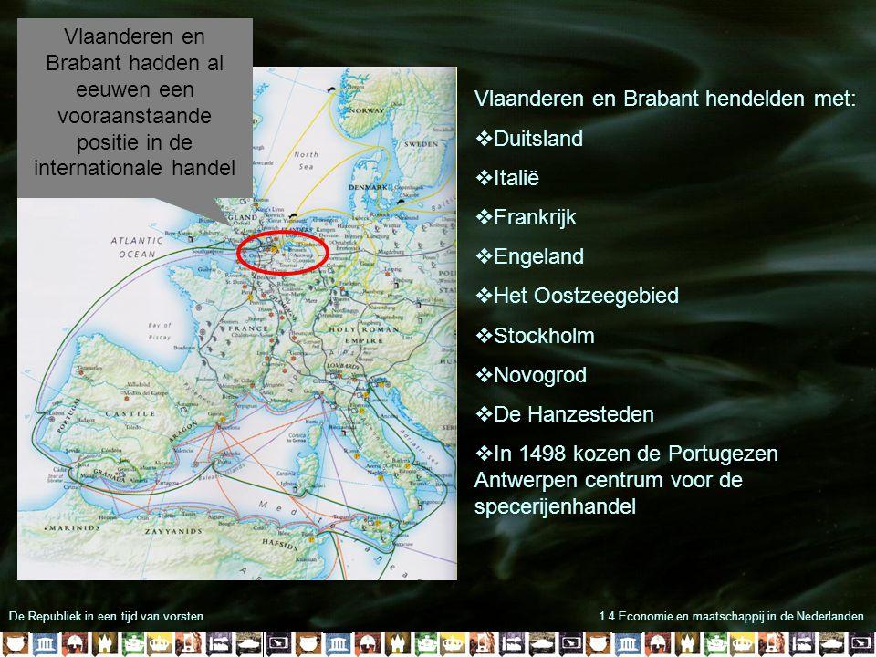 Vlaanderen en Brabant hendelden met: Duitsland Italië Frankrijk