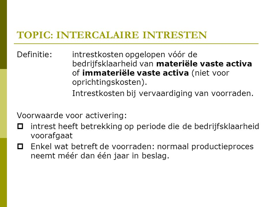 TOPIC: INTERCALAIRE INTRESTEN