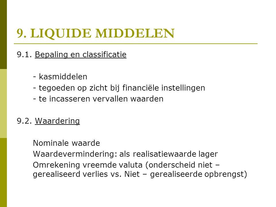 9. LIQUIDE MIDDELEN 9.1. Bepaling en classificatie - kasmiddelen
