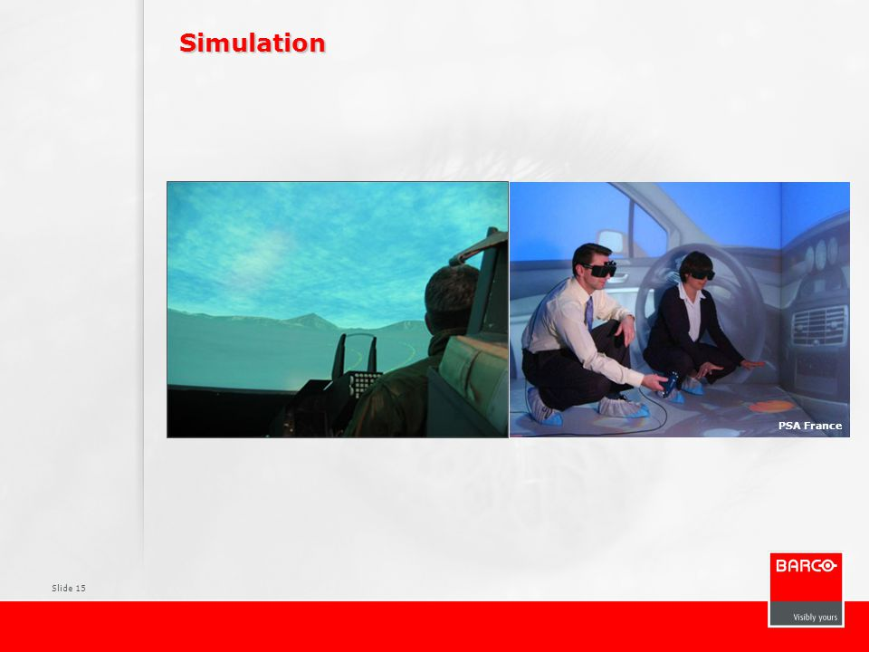 Simulation Pictures Typical PACS environment Surgical displays