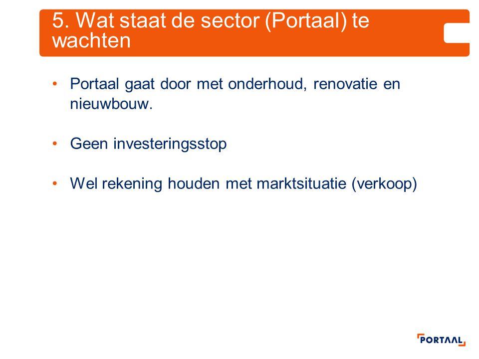 5. Wat staat de sector (Portaal) te wachten