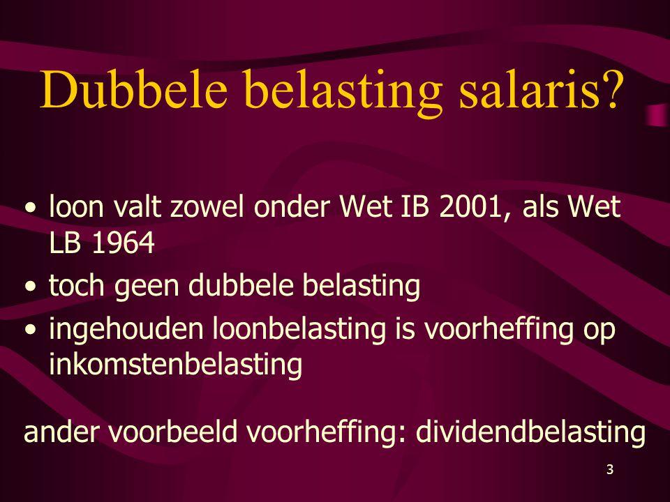 Dubbele belasting salaris