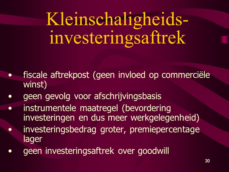 Kleinschaligheids-investeringsaftrek
