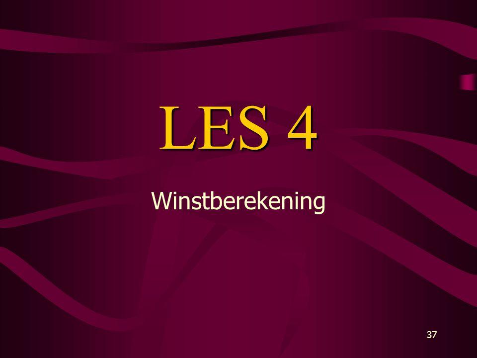LES 4 Winstberekening