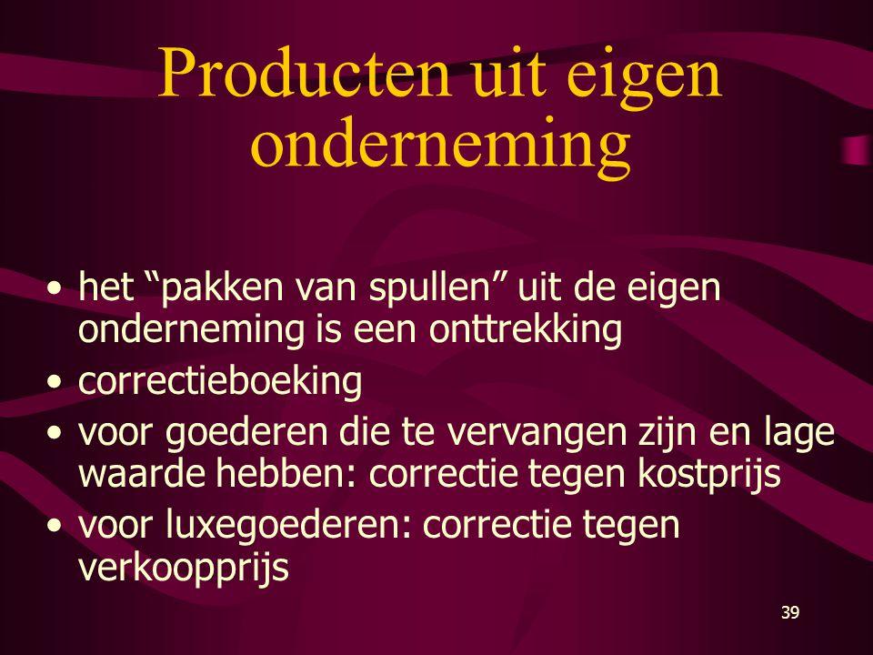 Producten uit eigen onderneming