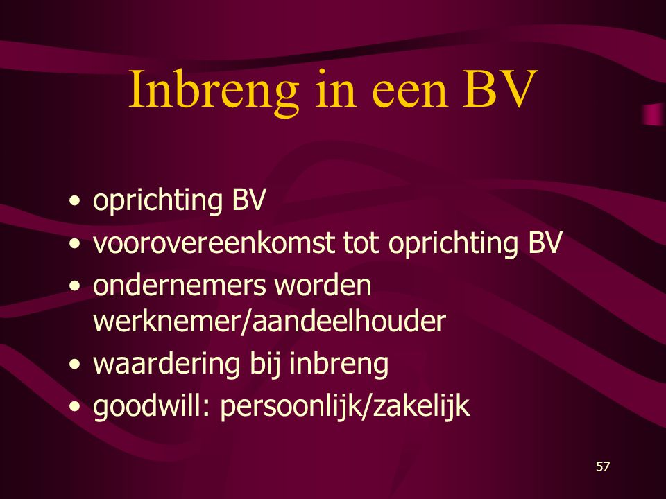 LES 1 Algemene aspecten. - ppt download Goodwill Berekenen