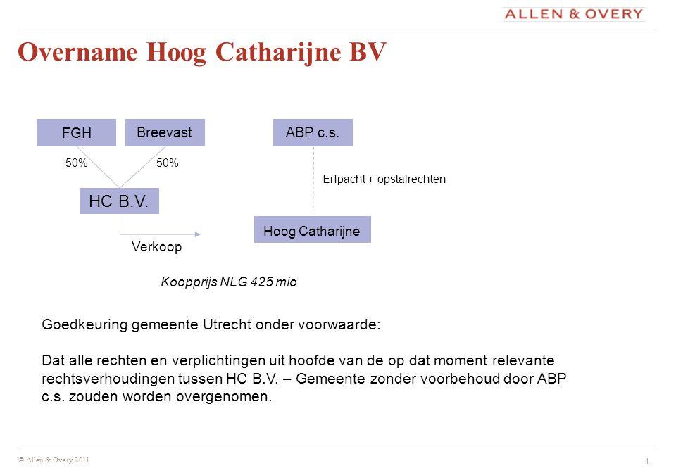 Overname Hoog Catharijne BV