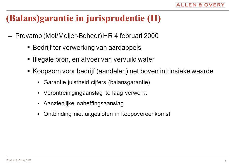 (Balans)garantie in jurisprudentie (II)