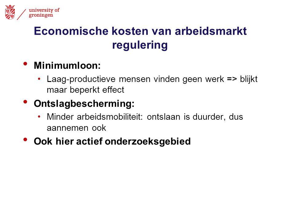 Economische kosten van arbeidsmarkt regulering